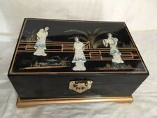 Chinese Lacquer Jewelry Box Black