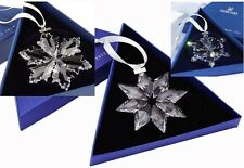 2012, 2013, 2014 Swarovski~Snowflake STAR Annual Christmas ORNAMENT~set of 3~NIB