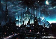 Dark Souls Art Print Game painting Gothic Moonlight Wall Art Home decor A3