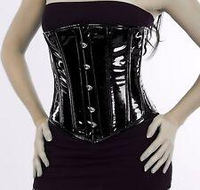 Unter Brust korsett corsage aus PVC Lack Schwarz 34~56