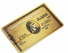 American Express bank gold credit card 8GB USB 2.0 flash drive memory stick