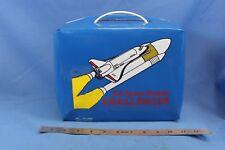 U.S. Space Shuttle Challenger Lunch box Vinyl Great Condition Rare Vintage Blue