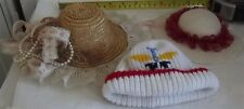 3 Small doll Hats