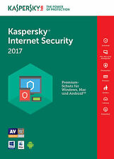 Kaspersky Internet Security 1 PC / Geräte 2 Jahre 2017 Vollversion Key 2018