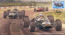 1967c BRABHAM-REPCO BT24s FERRARI NURBURGRING F1 cover signed CHRIS AMON