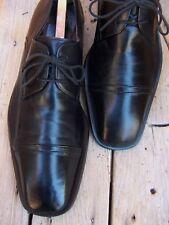 MEZLAN Mens Dress Shoes Soft Black Leather Cap Toe Oxfords Comfortable Size 10M