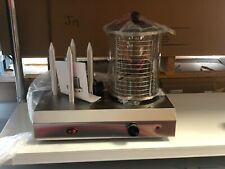 More details for hot dog machine stainless steel 4 sticks sausage bun warmer hotdog steamer