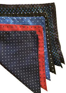 Men's Silk Pocket Squares Qty 6 (A58)