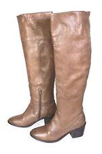 24S Görtz Stiefel Damen Boots Leder braun Gr. 37 Schaftstiefel Antik-Look Boho