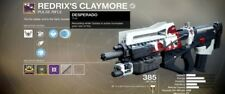 Destiny 2 REDRIX'S CLAYMORE COMPLETED IN 7 DAYS! PS4/Xbox One!