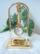 BULOVA Peninsula Collectible Mini Gold Desk Watch Clock Japan Movement SALE