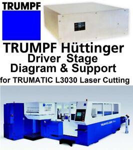 TRUMPF LASER TRUMATIC L3030 HUTTINGER 1633972 2 Kw DRIVER STAGE DIAGRAM