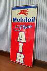 Mobiloil Free Air Large Metal tin sign Petrol oil Man cave bar garage Mobil Gas