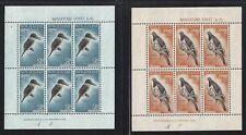 1960 New Zealand Scott #B59a-B60a (SG #MS804b) - Bird Souvenir Sheets - MNH