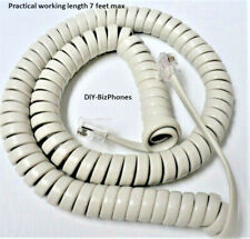 Generic Off White 12 Ft Handset Cord Landline Phone Replacement Coil New In Bag