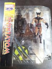 "Wolverine Brown Uniform 7"" Diamond Select Marvel Legends X-Men Logan Classic"