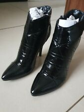 Size 5 BNIB black patent leather style ankle boot