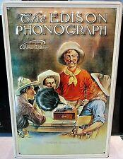 The Edison Phonograph Cowboys,Geprägt (3D) Vintage Stil Schild,30.5cmx 20.3cm