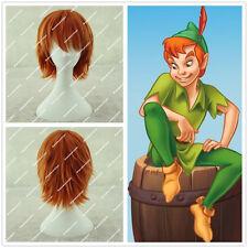 XMAS GIFT Peter Pan Cosplay Wig short orange anime wig + free wig cap