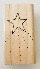 """Rubber Stamp Shooting Star & Stardust 1-3/4 x 1-1/8"""""""