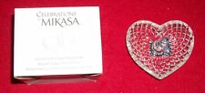 """CELEBRATIONS By MIKASA COLLECTION HEART RING HOLDER 3 1/2"""" NIB"""