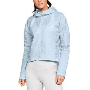 Under Armour Lightweight Jacket UA Storm Hybrid Woven Ladies Blue Running Top S