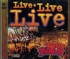 2 CD Kelly Family Live Live Live ,Neuwertig Top,Titel 2. Foto,Kel Life ,signiert