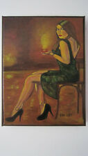 Sultry Coffee; Original Framed Painting Of An Elegant Woman