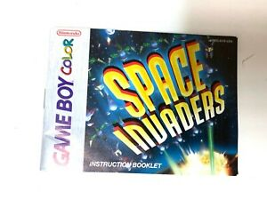 Space Invaders Original NINTENDO GAMEBOY COLOR Instruction Manual Booklet Book