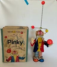 Vintage ALPS, JAPAN BATTERY OPERATED PINKY THE JUGGLING CLOWN MIB