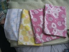 Vintage x4 cotton floral print pillow cases
