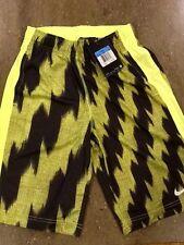 Nike Boys Dri-fit Fly GFX Training Shorts SZ-M Yellow/Black 717065-702 SRP $32