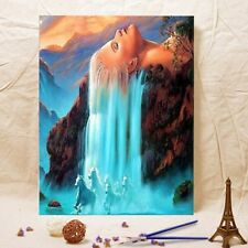 Framed 40*50CM Painting by Number Kit Girl&Horse S5 FUN ART DIY F012 AU STOCK