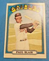 1972 Topps Baseball Baltimore Orioles U Pick (Mostly EX-MT to NM)