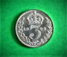 More details for edward vii 1904 silver threepence very high grade and rare.