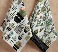 Design Imports Southwest Cactus URBAN OASIS Cotton Dishtowels Set of 2