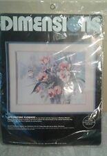 Dimensions Crewel Springtime Flowers  1337 Kit Barbara Mock Flowers NIP