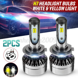 AutoLeader S5 Pair H7 Car LED  Bulb White &Yellow 30W 4000LM Fog Lamps