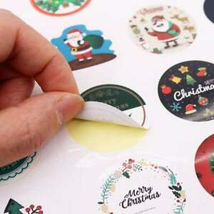 Christmas Advent Calendar Number Paper Sticker Cookie Candy Decoration DIY Label