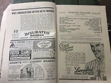 October 1927 PEARSON'S MONTHLY MAGAZINE.no cover vintage antique advertising