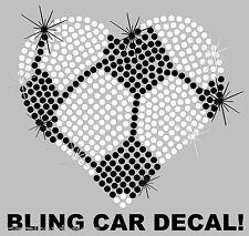 Sports Mom Soccer Heart School Rhinestone Bling Sparkle Car Decal Sticker 50-02