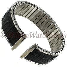 16-22mm Speidel Romunda Black Stainless Steel Twist-O-Flex Mens Band 00107603 XL