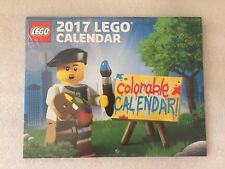 Brand New & Factory Sealed LEGO Exclusive 2017 Colorable Wall Calendar 5005260