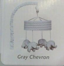 NEW OPEN BOX Trend Lab Musical Mobile, Dove Gray Chevron