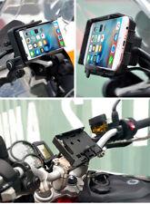 Mobile Phone Holder GPS Navigation Bracket USB Charger For BMW R1200GS ADV F800