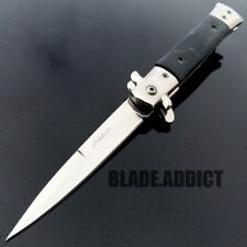 Godfather Italian Milano Stiletto Tactical Spring Assisted Pocket Knife Grey new