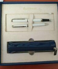 Waterman Hemisphere White CT Fountain Pen & Ball Pen Set + Pouch - Dirty Box