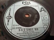 "FOX * S-S-S-SINGLE BED * 7"" SINGLE 1976 EXCELLENT GTO RECORDS"