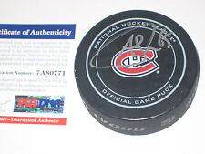 ANDREW SHAW Signed Montreal CANADIENS Official GAME Puck w/ ITP PSA COA