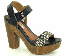 F10244- Spoton Interwoven Block Platform Heeled Sandals 2 Colours- Great Price